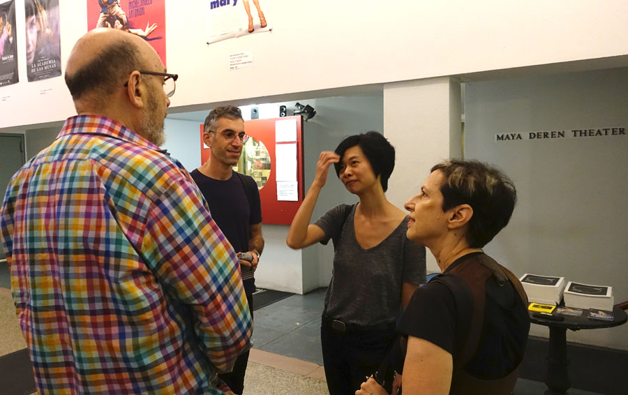 Sept 8 2016: Anthology Film Archives GW, friend, Fang Lu, Ellen Zweig Before screening